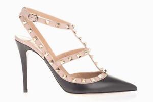 Valentino Garavani Rockstud Heels Size UK 7 (EU 40) Shoes Pumps Black/Poudre