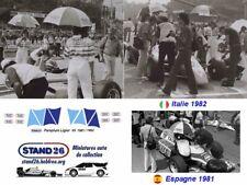 Decals umbrella parapluie Talbot Gitanes Ligier JS17 JS19 1981 1982 1/43e