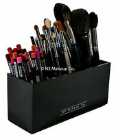 Acrylic Makeup Brush Holder | 3 Slot Eyeliner Pencil Organizer by N2 Makeup Co