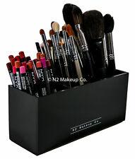 Acrylic Makeup Brush Holder   3 Slot Eyeliner Pencil Organizer by N2 Makeup Co