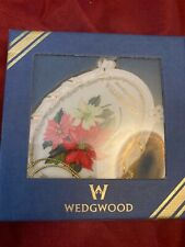"Wedgwood china Holiday Garden Poinsettia Ornament 4 "" Brand New In Box"