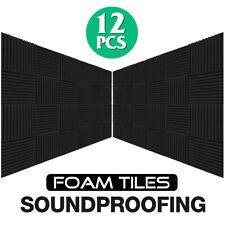 12X Acoustic Panels Wedge Studio Soundproofing Sound Foam Wedge 30X30cm KTV Home