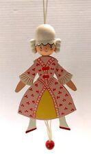 Vintage Sevi Italy Wooden Pull String Ballerina Puppet Victorian Royal Pink Girl