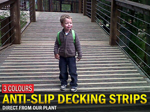 Anti Slip Decking Strips for Slippery Decking Walkways, Paths and Ramps