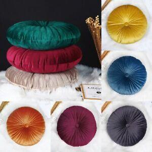 Round Velvet Cushion Seat Pumpkin Pillow Home Decor Couch Floor Cushion Pad