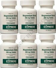 Cypress Pharmaceuticals Magnesium Oxide 400mg 120ct Tablets ( 6 pack ) PRIORITY!