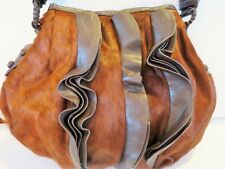 Mitchie's Matchings Calf Skin Handbag Purse Brown