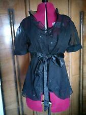 Saint Tropez black dress top size 10 embroidery and sequine detailing