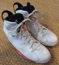 b38ce0c7220795 Nike Air Jordan 6 Retro White Infrared Black 384664-123 Size 13