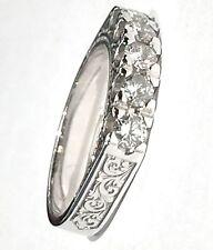 anello veretta in platino con decoro 5 diamanti di ct 0,55 colore G VVS1 n 13