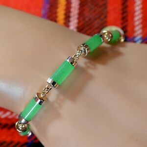 SILVER second hand jade bracelet