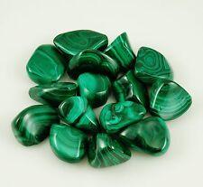 MALACHITE - ONE Tumbled Polished Stone, 13 - 18 grams w/ Healing Property Card