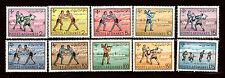 Poste AFGHANES  1961 Série complète  #496-505 Lutte et jeux sportifs E5