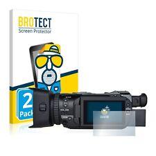 2x Canon Legria GX10 Display Schutz Folie Matt Entspiegelt