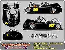 Fluorescent Go Kart Racing Vinyl Decal Numbers Graphics Lettering  1 or 2 Digit