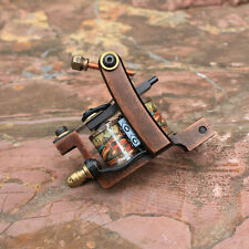 coil tattoo machine gun set shader cast iron frame handmade 10 wraps coils