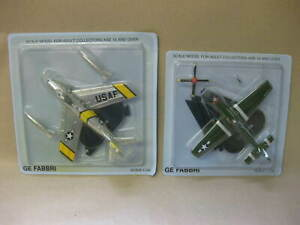 2 GE FABBRI Model Aircraft ~ Scale 1:100 ~ Sealed ~ F-86 Sabre & P-51 Mustang