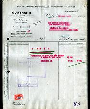 "CLICHY (92) HUILES & GRAISSES INDUSTRIELLES ""G. WISNER"" en 1928"