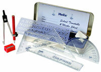 HELIX MATHS GEOMETRY SET IN TIN CASE WITH FREE DELIVERY