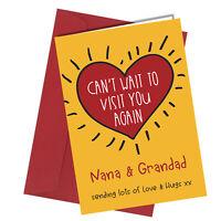 #1306 Nana Grandad Can't Wait To Visit You Again Lockdown Greetings Card