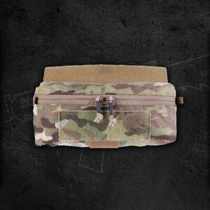 Drop Pouch Front Panel Abdominal Bag for JPC AVS MK3 Tactical Vest Chest Rig