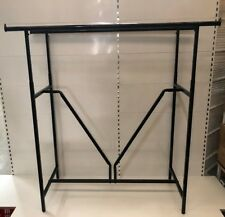 Clothes Rack Heavy Duty Garment Rack- Double Rail- Matt Black