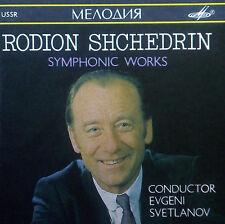 CD SHCHEDRIN - symphonic works, Svetlanov, Melodiya