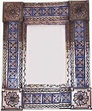 Small Brown Escudo Tile Talavera Tin Mirror
