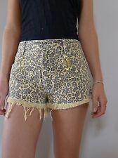 One one seven S 10 unused animal print denim jeans cut-off shorts as new
