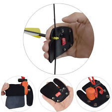 Archery Finger Tab Cow Leather Shooting Tab for Recurve Bow Right Hand