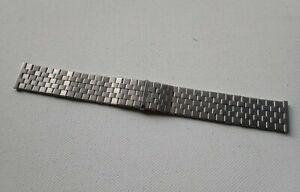 Vintage Stainless Steel Brick Link Expandable watch Bracelet 19mm