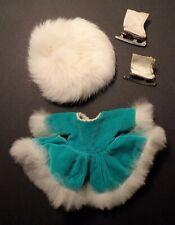 "Vtg. Cosmopolitan ""Ginger"" Fashions Aqua Velvet w/Rabbit Fur Trim Skating Outfit"