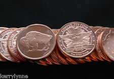 2013 (10) Buffalo 1Oz Round .999 Copper Proof Like Fast Ship New Desig