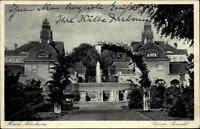 Bad Nauheim Hessen 1938 Partie Großer Sprudel Brunnen Bauwerk Park Anlage Häuser