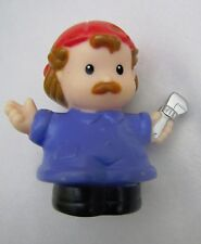 Fisher Price Little People AUTO MECHANIC MAN w/ RED CAP & Wrench for CAR SHOP