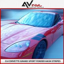 Corvette Fender Stripes C6 hash mark decals like grand sport Decal 05-13 Black