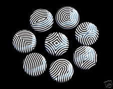 8 OPTICAL ILLUSION Pinbacks Buttons Badges 1 inch Black White