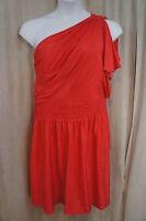 Eliza J Dress Sz 14 Solid Red One Shoulder Evening Cocktail Party Dress