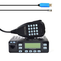 25W VHF/UHF Mini Taxi Ham Car Mobile Radio FM Transceivers With Cable Software