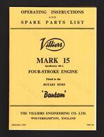 A3 Diagrams Rotavator /& Villers 25C Engine Manuals Clifford Mk 1 Cultivator