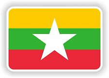 """Burma Myanmar flag sticker 2.8x4""""Bumper Decal Car Tablet Door Book Truck"""