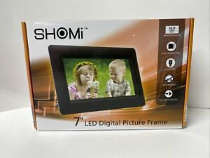 """Shomi LED Digital (SD MMC SDHC) Photo Picture Viewer 7"""" Widescreen Display Frame"""