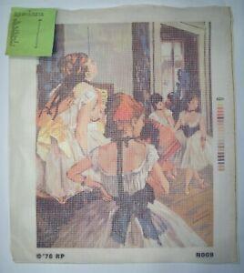 "Royal Paris Degas Dancers Vintage Needlepoint Tapestry Canvas 15.5"" x 20"""