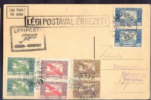 11504 Hungary,1925,Air-mail postcard from air-mail postmark of Szeged on the air