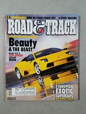 Road & Track Magazine May 2002 BMW M3 GTR - 2003 Mercedes-Benz E-Class & Audi A4