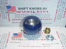 Peterbilt glitter Shift knob,  60's-70's  Roadway style (Blue W/ Silver Logo)