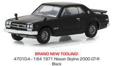Greenlight Nissan Skyline 2000 GTR 1971 Black Tokyo Torque 47010 A 1/64