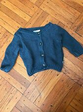 Imps & Elfs Baby Unisex Size 62 Button Down Chunky Knit Blue Cardigan