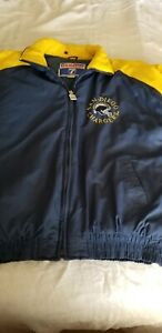 "VTG ""Logo 7"" San Diego Chargers NFL Gameday Puffer Parka Jacket Coat Size  XL"