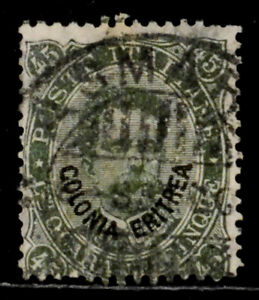 ERITREA, ITALY: 1892 19TH CENTURY CLASSIC ERA STAMP SCOTT #8 CV $32.50 SOUND